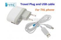 Фирменное оригинальное зарядное устройство от сети для телефонов THL W100/W200/W7/W8/W9/W11/T100/T11 + гарантия