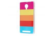 """Фирменная ультра-тонкая полимерная из мягкого качественного силикона задняя панель-чехол-накладка для ThL T6s""""  тематика """"все цвета радуги"""""""