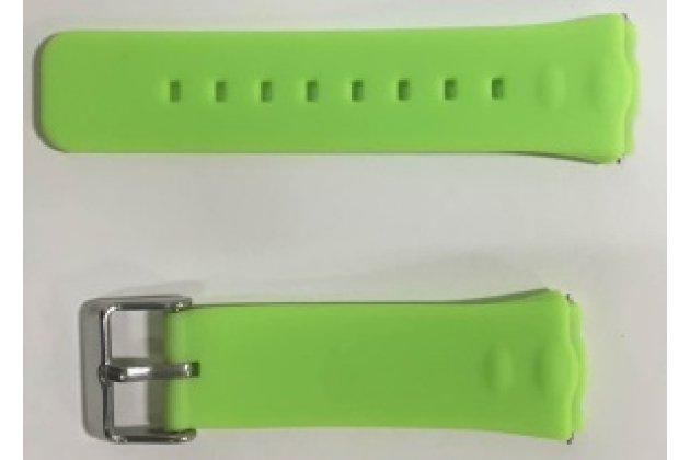 Фирменный необычный сменный силиконовый ремешок  для умных смарт-часов Titan Watch Q50 разноцветный