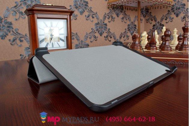 """Фирменный умный чехол самый тонкий в мире для планшета Toshiba Encore 2 WT10-A32  """"Il Sottile"""" черный пластиковый"""