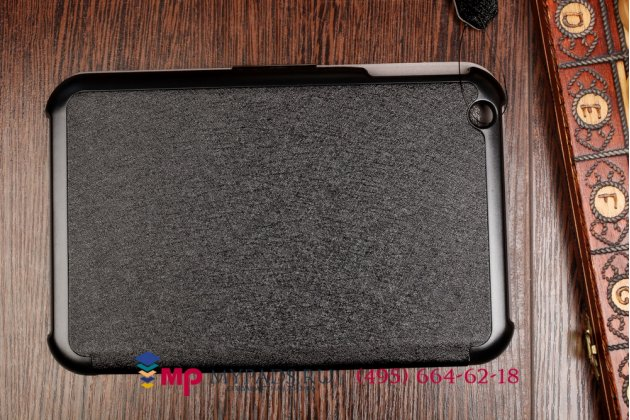 """Фирменный умный чехол самый тонкий в мире для Toshiba Encore 2 WT8-B264 """"Il Sottile"""" черный пластиковый Италия"""