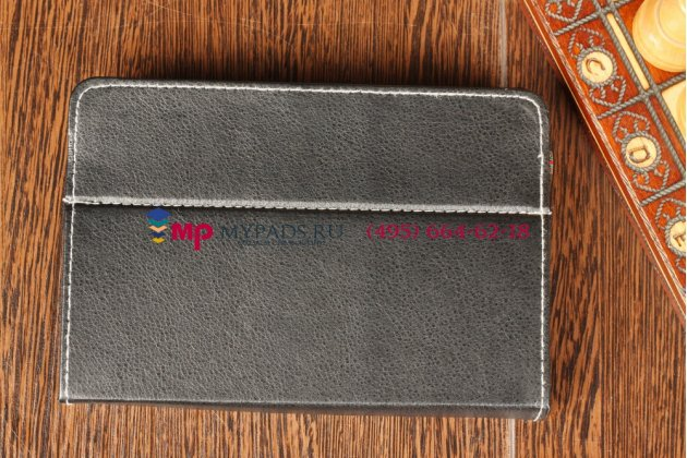 Чехол-обложка для Treelogic Gravis 75 3G IPS GPS черный кожаный