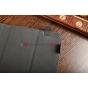 Чехол-обложка для Treelogic Brevis 1003QC IPS черный с серой полосой кожаный