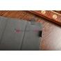 Чехол-обложка для Treelogic Brevis 1003QC IPS синий с красной полосой кожаный