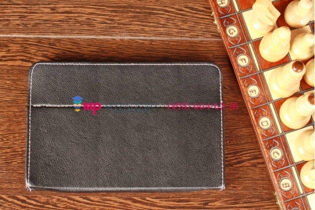 Чехол-обложка для Treelogic Brevis 785DC IPS черный кожаный