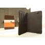 Чехол-обложка для TurboGames TurboPad 702 коричневый с оранжевой полосой кожаный