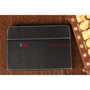 Чехол-обложка для  черный кожаный TurboGames Turbopad 1000