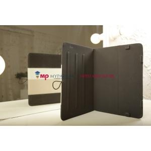 Чехол-обложка для TurboGames Turbopad 1000 черный с серой полосой кожаный