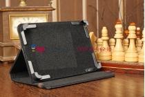 Чехол-обложка для TurboPad 721 черный кожаный