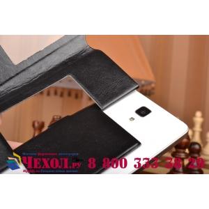 Чехол-футляр для LG Y70 окошком для входящих вызовов из импортной кожи. Цвет в ассортименте