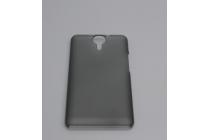 Фирменная задняя панель-крышка-накладка из тончайшего и прочного пластика для Ulefone Be Touch 2 прозрачная