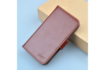 """Фирменный чехол-книжка для  Ulefone BeTouch""""  с визитницей и мультиподставкой коричневый кожаный"""