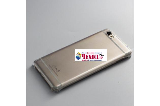 """Фирменная задняя панель-крышка-накладка из тончайшего и прочного пластика для Ulefone Future 5.5""""  белая"""
