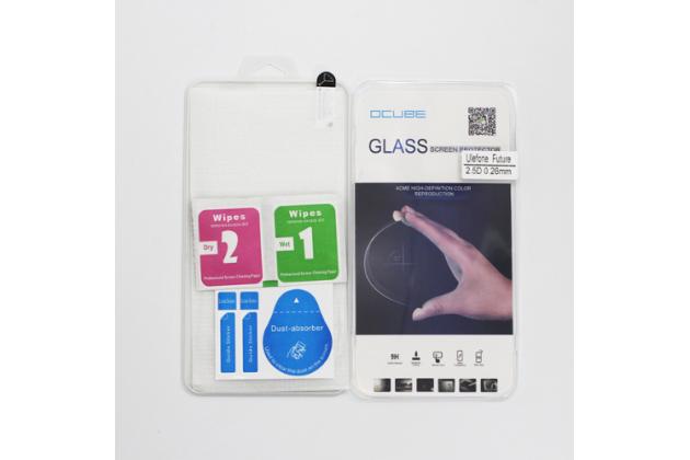 """Фирменное защитное закалённое противоударное стекло премиум-класса из качественного японского материала с олеофобным покрытием для телефона Ulefone Future 5.5"""""""