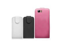 """Фирменный оригинальный вертикальный откидной чехол-флип для Ulefone Future 5.5""""  черный кожаный"""