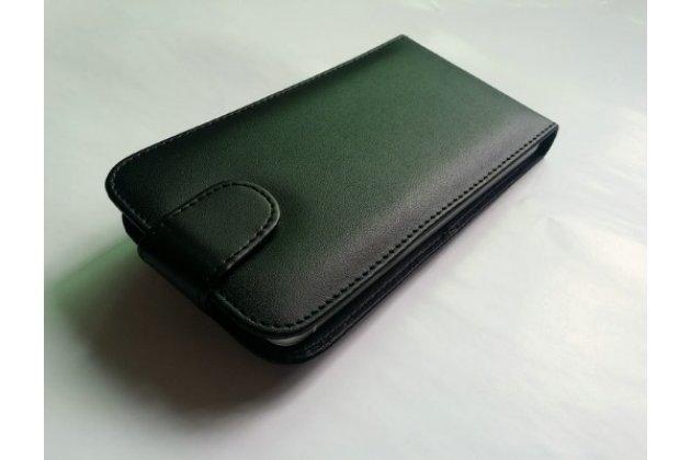 """Фирменный оригинальный вертикальный откидной чехол-флип для Ulefone Metal 5.0"""" черный кожаный"""