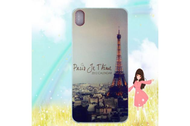 """Фирменная уникальная задняя панель-крышка-накладка из тончайшего силикона для Ulefone Paris"""" """"тематика Париж"""""""