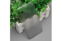 """Фирменная задняя панель-крышка-накладка из тончайшего и прочного пластика для Ulefone Paris"""" серая"""