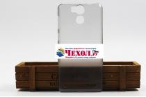 """Фирменная задняя панель-крышка-накладка из тончайшего и прочного пластика для Ulefone Power"""" серая"""
