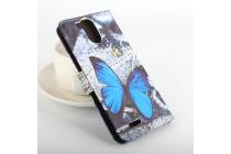 """Фирменный уникальный необычный чехол-книжка для Ulefone Power"""" """"тематика радужные Бабочки"""""""