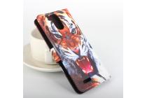 """Фирменный уникальный необычный чехол-подставка с визитницей кармашком на Ulefone Power  """"тематика Тигр"""""""