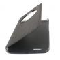 """Фирменный чехол-книжка  с окошком для входящих вызовов для  Ulefone Vienna"""" водоотталкивающий черный"""