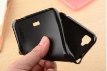 Фирменная ультра-тонкая полимерная из мягкого качественного силикона задняя панель-чехол-накладка для Viewsonic V500  черная