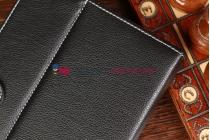 Чехол-обложка для Viewsonic VB80a Pro черный кожаный