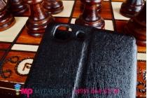 Фирменный оригинальный чехол-книжка для Vivo X5L черный с окошком для входящих вызовов c свайпом