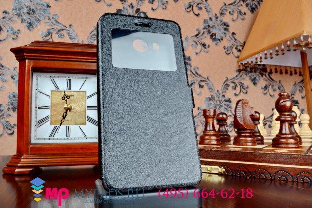 Фирменный оригинальный чехол-книжка для Vivo Xshot черный с окошком для входящих вызовов c свайпом