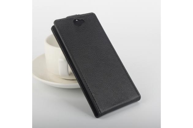 """Фирменный вертикальный откидной чехол-флип для Vkworld VK6050S"""" черный"""