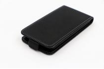 """Фирменный оригинальный вертикальный откидной чехол-флип для Wexler.ZEN 5.5s LTE""""  черный кожаный"""