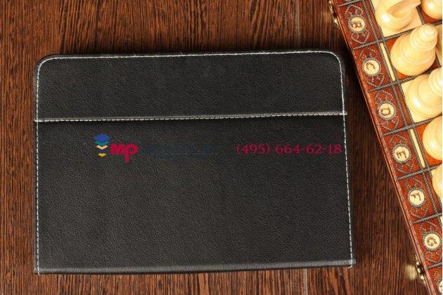Чехол-обложка для Wexler TAB 10iS 8Gb\16Gb\32Gb\8Gb 3G\16Gb 3G\32Gb 3G черный кожаный