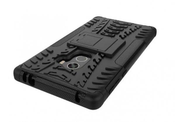Противоударный усиленный ударопрочный фирменный чехол-бампер-пенал для for Xiaomi MI MIX 6.4 черный