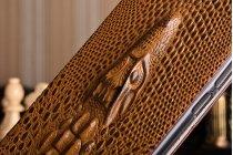 """Фирменный роскошный эксклюзивный чехол с объёмным 3D изображением кожи крокодила коричневый для Xiaomi MI MIX 6.4"""". Только в нашем магазине. Количество ограничено"""