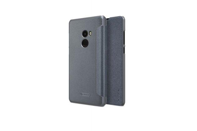 """Фирменный оригинальный чехол-книжка для Xiaomi MI MIX 6.4"""" черный водоотталкивающий"""
