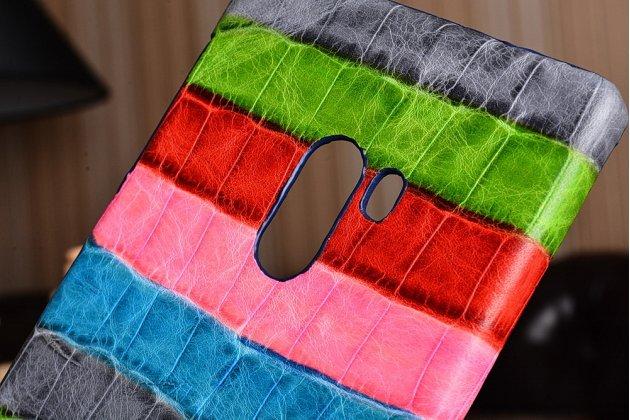"""Фирменная неповторимая экзотическая панель-крышка обтянутая кожей крокодила с фактурным тиснением для Xiaomi MI MIX 6.4"""" тематика """"Тропический Коктейль"""". Только в нашем магазине. Количество ограничено."""
