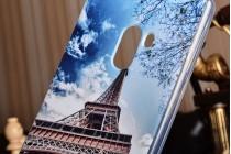 """Фирменная уникальная задняя панель-крышка-накладка из тончайшего силикона для Xiaomi MI MIX 6.4"""" с объёмным 3D рисунком """"тематика Франция"""""""