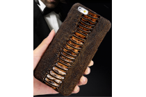 """Фирменная элегантная экзотическая задняя панель-крышка с фактурной отделкой натуральной кожи крокодила кофейного цвета для Xiaomi MI MIX 6.4"""". Только в нашем магазине. Количество ограничено"""
