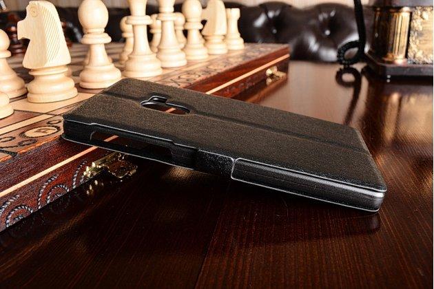 """Фирменный чехол-книжка для Xiaomi MI MIX 6.4"""" черный с окошком для входящих вызовов и свайпом водоотталкивающий"""