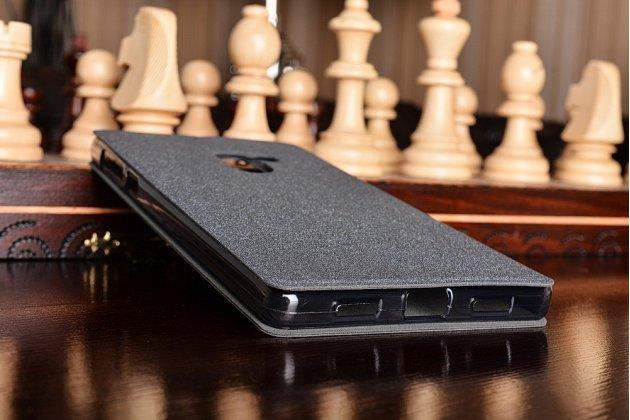 """Фирменный чехол-книжка водоотталкивающий с мульти-подставкой на жёсткой металлической основе для Xiaomi MI MIX 6.4"""" черный"""
