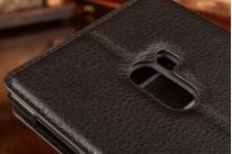 """Фирменный чехол-книжка из качественной импортной кожи с подставкой застёжкой и визитницей для Xiaomi MI MIX 6.4"""" черный"""