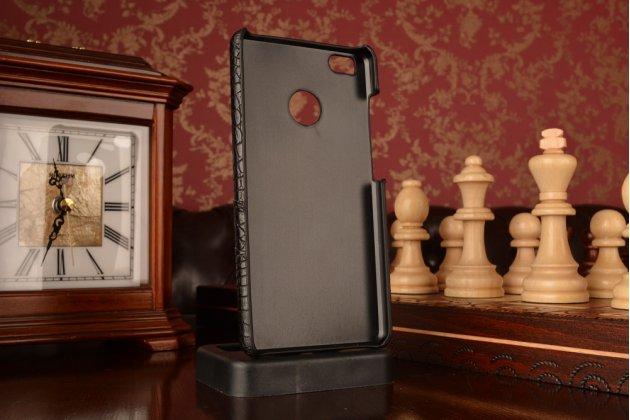 Фирменная роскошная элитная премиальная задняя панель-крышка для Xiaomi Mi 4S из качественной кожи крокодила черный