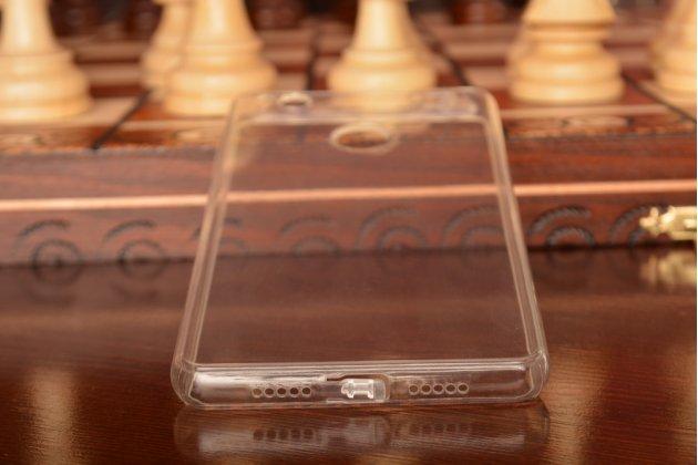 Фирменная ультра-тонкая силиконовая задняя панель-чехол-накладка для Xiaomi Mi 4S прозрачная