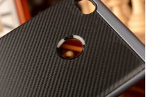 """Задняя панель-крышка из тончайшего мягкого силикона для Xiaomi Mi 4S с матовой отделкой """"под карбон"""" черная"""