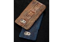 Фирменная элегантная экзотическая задняя панель-крышка с фактурной отделкой натуральной кожи крокодила для Xiaomi Mi 4S. Только в нашем магазине. Количество ограничено.