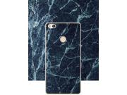 Фирменная из тончайшего прочного пластика задняя панель-крышка-накладка с рисунком под мрамор для Xiaomi Mi 4S..