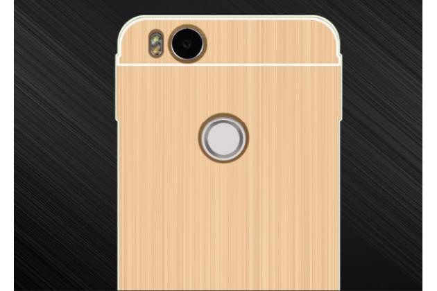 Фирменная металлическая задняя панель-крышка-накладка из тончайшего облегченного авиационного алюминия для Xiaomi Mi 4S золотая