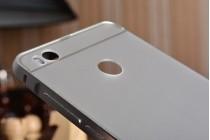 Фирменная металлическая задняя панель-крышка-накладка из тончайшего облегченного авиационного алюминия для Xiaomi Mi 4S серебряная