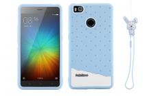 """Фирменная необычная уникальная полимерная мягкая задняя панель-чехол-накладка для Xiaomi Mi 4S """"тематика Андроид в Черничном  Шоколаде"""""""